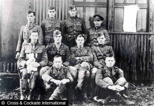 LT WE Gower pictured with other members of his Squadron.